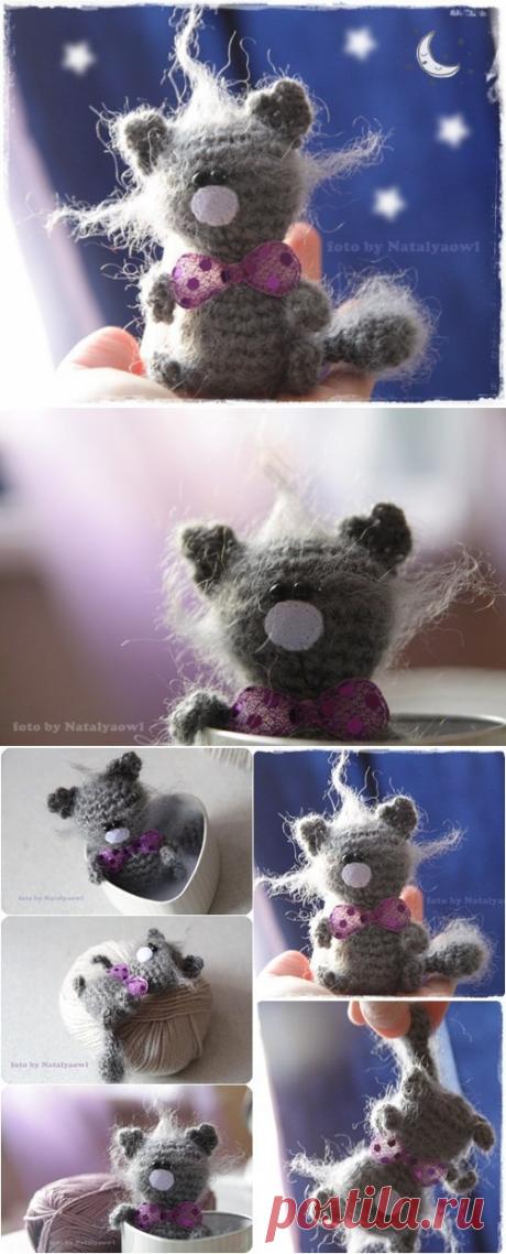 Схемы вязания игрушек. Котенок крючком / Вязание игрушек на спицах и крючком, схемы и описание / КлуКлу. Рукоделие - бисероплетение, квиллинг, вышивка крестом, вязание