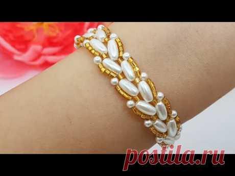 BRACELET/Beaded bracelet/Pearl BRACELET/Diy Bracelet/Tutorial/Браслет из бусин/@Cícero Alencar