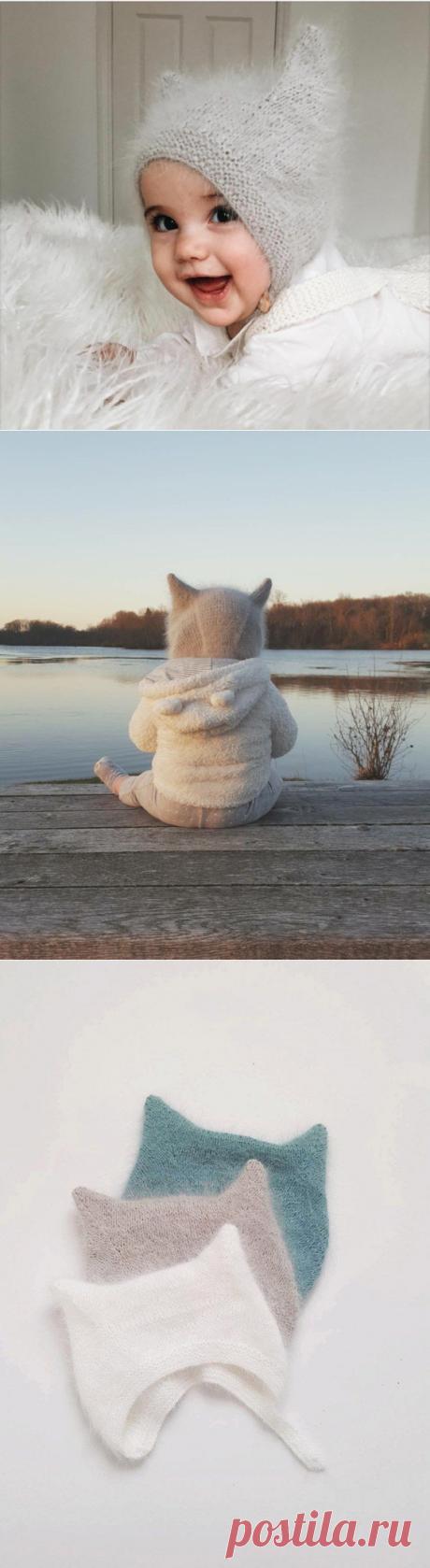 Простая шапочка для малыша (Вязание спицами) – Журнал Вдохновение Рукодельницы