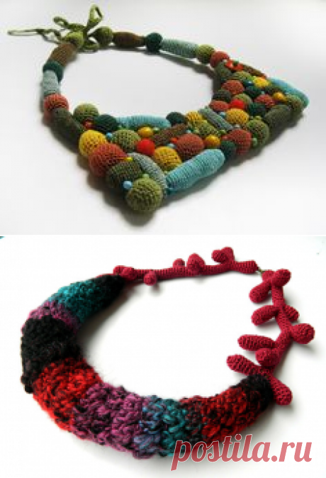 SALE/ 15%/ Colorful Crochet Necklace by LidaAccessories on Etsy | Crochet Necklace | Crochet necklace, Crochet and Etsy
