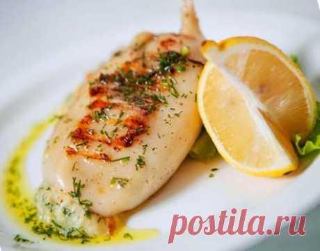 Кальмары, фаршированные сыром | Рецепты. Просто, быстро, вкусно
