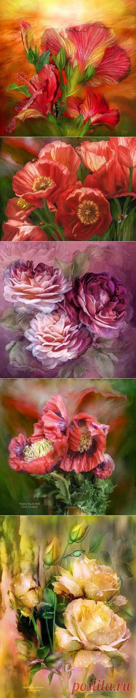 Волшебные цветы Carol Cavalaris.