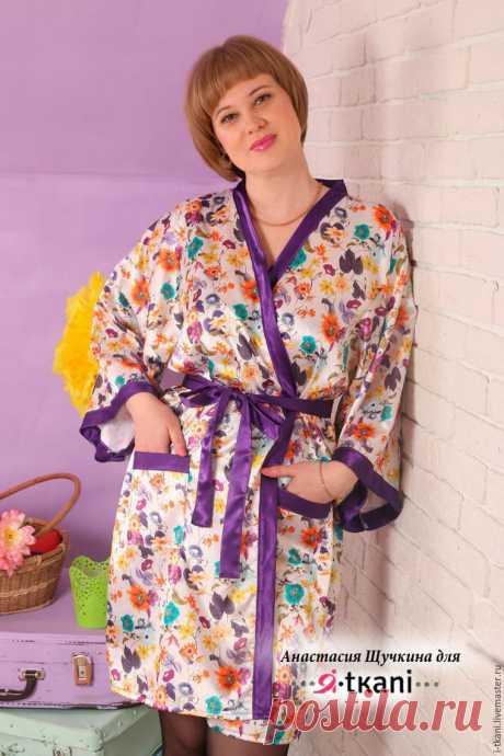 Искусство обольщения по-японски: шьём халат-кимоно - Ярмарка Мастеров - ручная работа, handmade