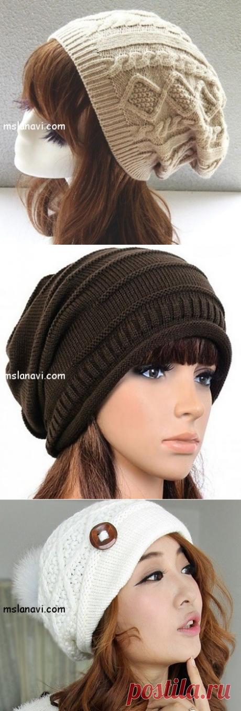 Модные шапочки спицами: разные варианты идей | Вяжем с Лана Ви