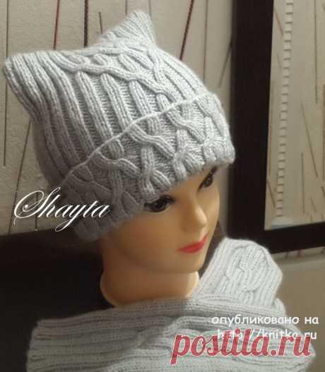 Una set, cap and mittens. A handiwork of Oksana Usmanova, Knitting for women
