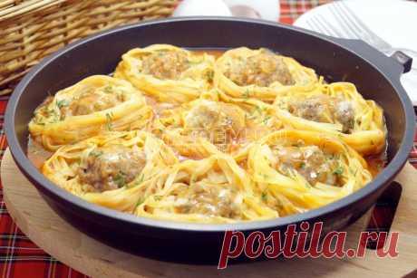 Гнезда с фаршем на сковороде|Быстрый и вкусный ужин