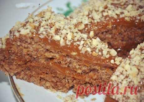5-минутный ореховый торт без муки и масла.