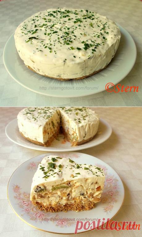 Закусочный торт «Грибной дождь»