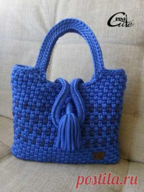 Вязаные сумки - 6 Сумки из полиэфирного шнура.