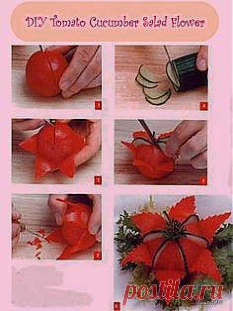 DIY Cucumber Flower | Food art