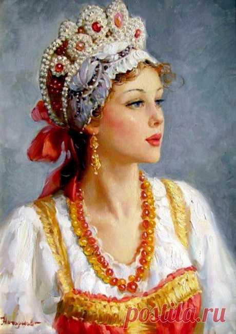 Русские красавицы в картинах Владислава Нагорнова.
