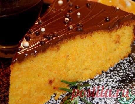Морковный бисквит с шоколадной глазурью – кулинарный рецепт