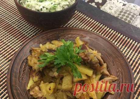 (8) Быстрый обед, жареный картофель с мясом - пошаговый рецепт с фото. Автор рецепта Елена Мыльникова . - Cookpad