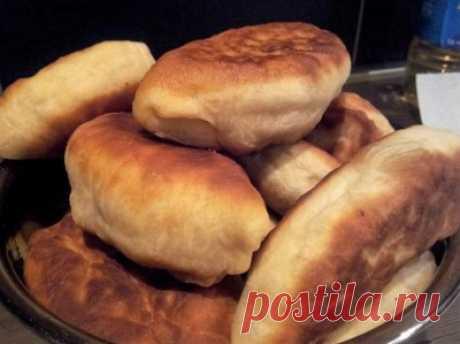 Жареные пирожки на кефире, быстрое бездрожжевое тесто : Выпечка несладкая