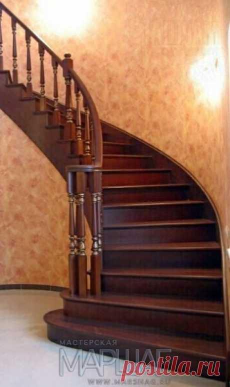 Лестницы, ограждения, перила из стекла, дерева, металла Маршаг – Лестница и перила из дуба