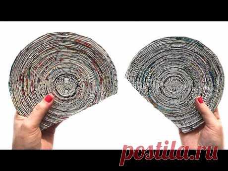 DIY Идея из газетных трубочек | Поделка из газеты