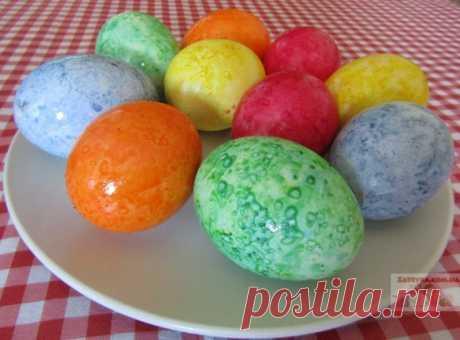 Мраморные яйца-крашенки к Пасхе в рисовой сечке — Кулинарная книга - рецепты с фото