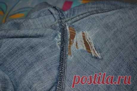 Как заштопать джинсы. Мастер-класс: