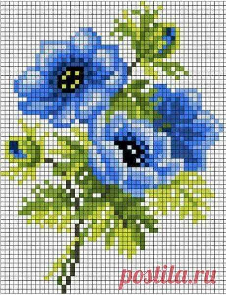 Цветы. Жаккард или вышивка