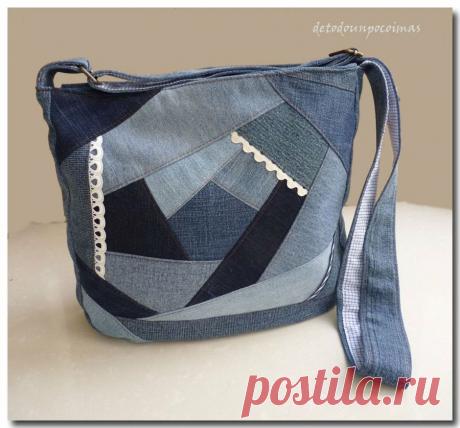 Изящные лоскутные сумочки. Вторая жизнь джинсовой ткани. | Магия творчества | Яндекс Дзен