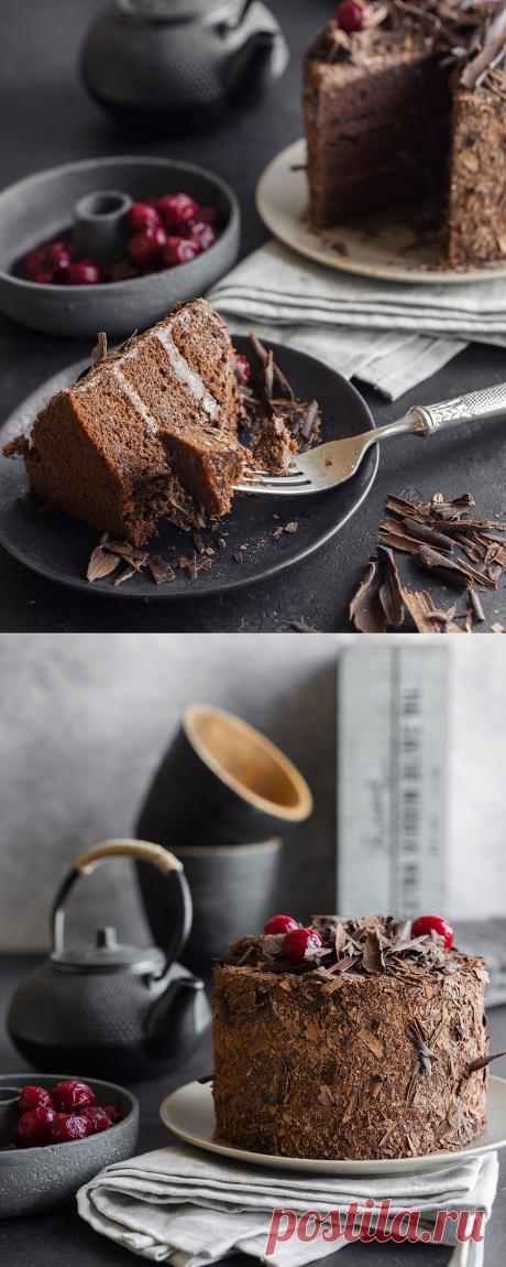 """Шоколадно-абрикосовый торт с ганашем """"Венское соглашение"""" - Andy Chef (Энди Шеф)"""