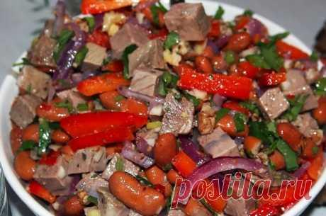 5 вкусных салатов с мясом для Настоящих мужчин