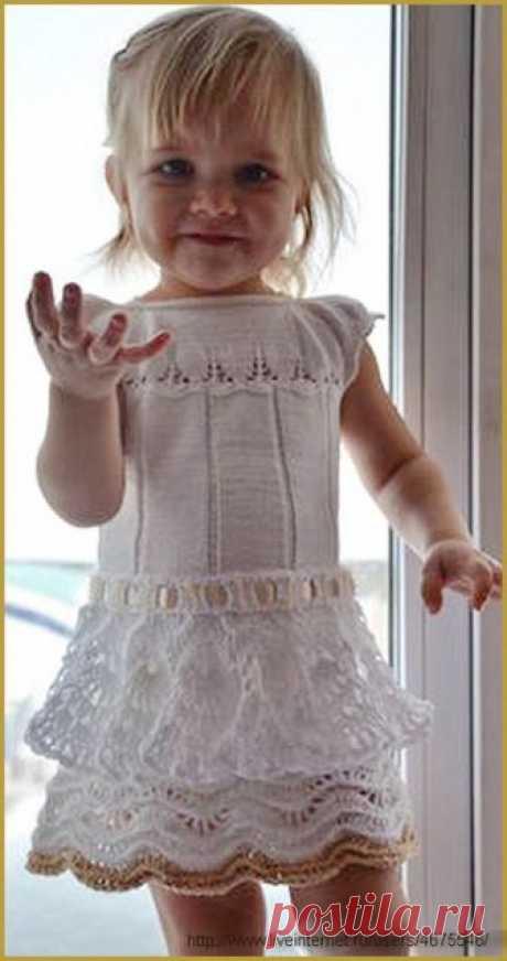 Белое платье по мотивам Carmen Taberner