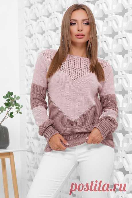 """Ажурная кокетка узором """"сетка"""". Спицами. / Вязание: Джемперы, пуловеры, туники, свитеры спицами и крючком"""