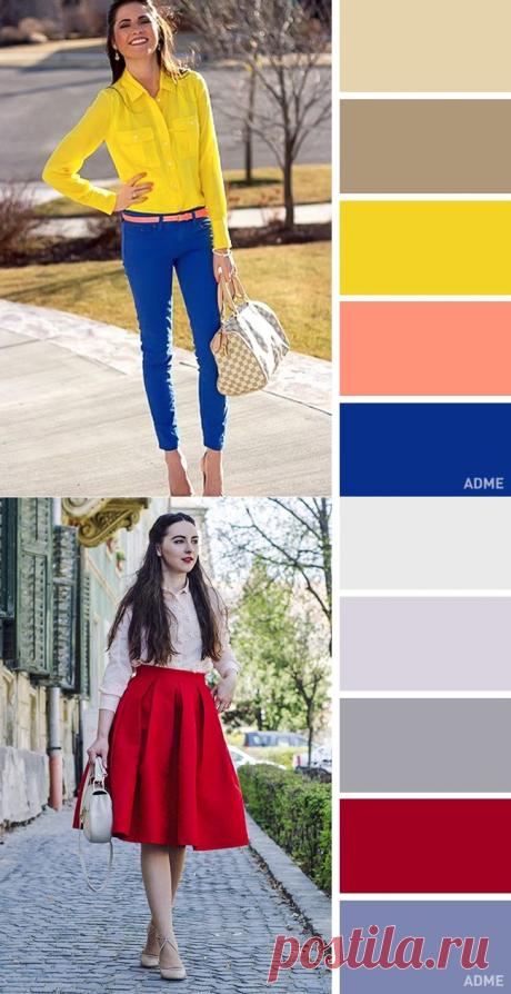 12 идеальных цветовых сочетаний в одежде для весны / Все для женщины