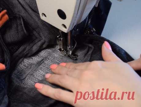 Шитье. Учимся штопать джинсы на швейной машинке. Мастер-класс