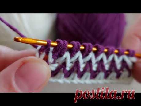 Super Easy Tunisian Crochet - Tunus işi çok kolay çok güzel örgü battaniye yelek modeli