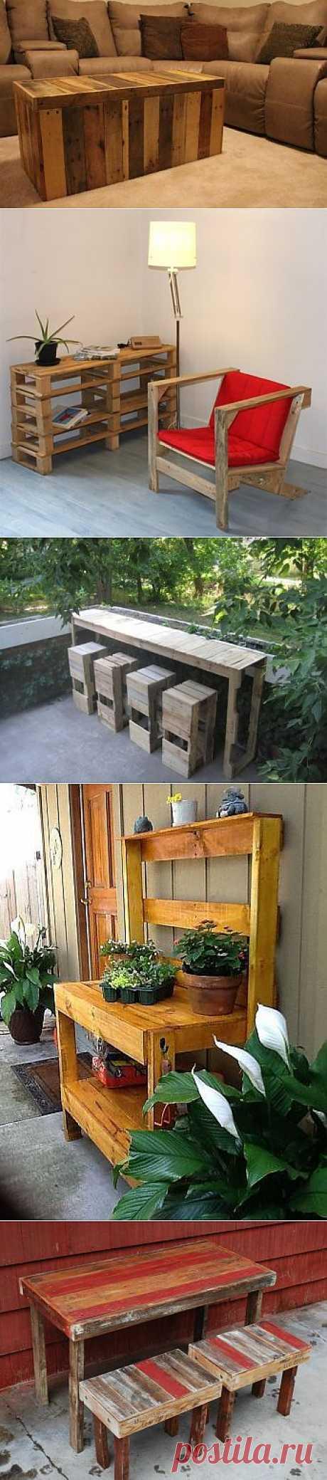 Дома из паллет, мебель из паллет, аксессуары для дома из паллет. Паллеты основательно вошли в нашу жизнь. Диваны, кровати, качели, кресла, стулья, скамейки, Оформление стен. Столы кухонные, обеденные, туалетные, журнальные, барные, садовые. Шкафы, тумбы, полки. Аксессуары для ванной и кухни Двери и лестница. Оформления сада и детские площадки Дома из паллет Всё для жизни - из паллет ( трафик) / Мебель /