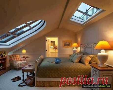 (1) Эковер - Хроника - Уютная спальня под крышей.