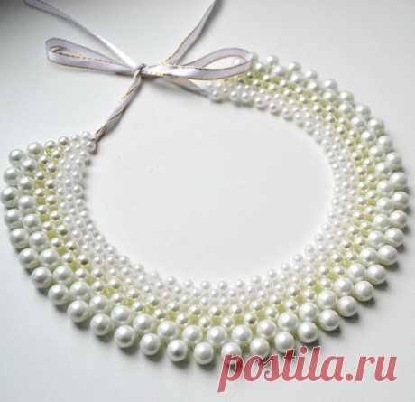 Как сплести ожерелье из бисера