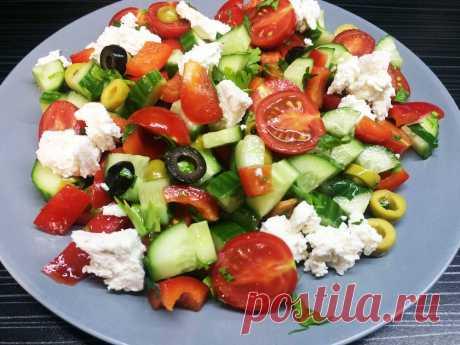 Салат «Греческий» - пошаговый рецепт - рецепт с фото пошагово