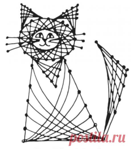 Изонить схемы с цифрами для начинающих животные (рисунки)