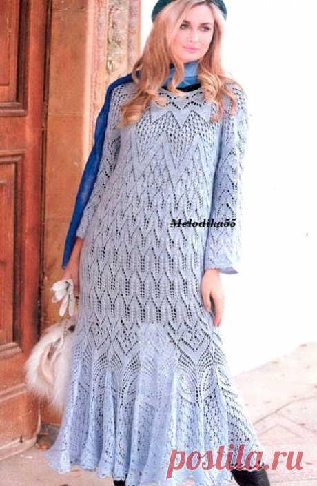 АЖУРНОЕ ПЛАТЬЕ - запись пользователя Наталья (Наталья) в сообществе Вязание спицами в категории Вязание для женщин спицами. Схемы вязания спицами https://www.liveinternet.ru/users/melizza/post428136472