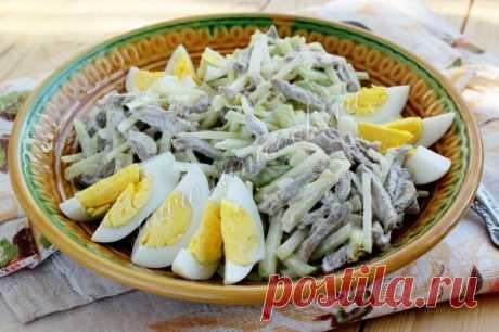 Салат «Ташкент», рецепт с фото. Готовим салат Ташкент с редькой и мясом.