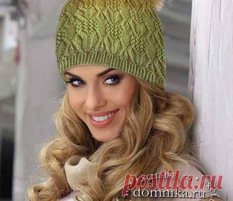 Модные вязаные шапки на зиму 2021 года женские шапки спицами 16 моделей