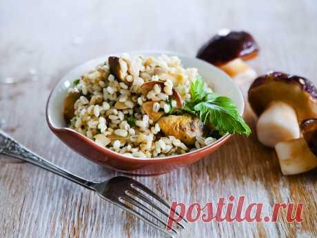 Рецепт: Перловка с грибами в мультиварке - рецепты POLARIS