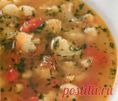 Постный суп из чечевицы с цветной капустой / Простые рецепты