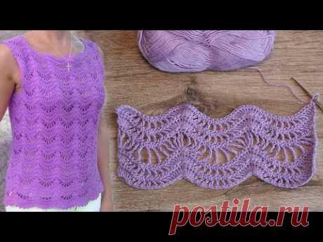 Узор «Зигзаг крючком» 💤 Crochet Zigzag Pattern