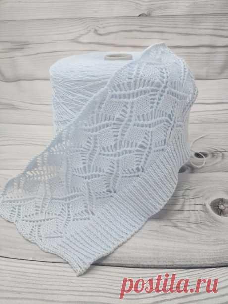 СХЕМА легкого ажурного узора из хлопка Tresero (Вязание спицами) – Журнал Вдохновение Рукодельницы