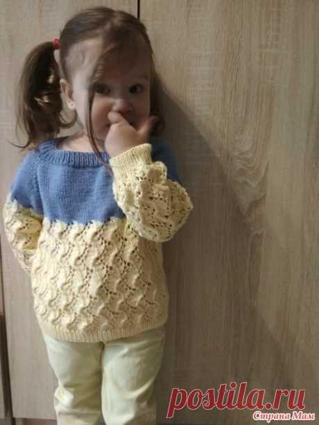Джемпер для дочки Добрый день! В преддверии уже приближающейся осени захотелось показать Вам джемперок для дочки который связан из пряжи Cotton Baby soft.