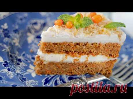 Морковный ТОРТ БЕЗ МУКИ и БЕЗ ЯИЦ + морковный кекс, пирожные и трайфл | постный веганский рецепт