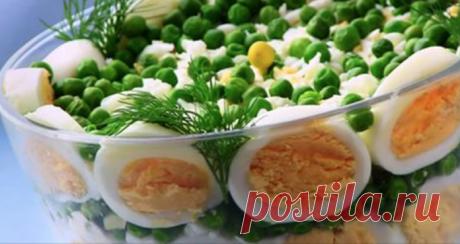 Очень праздничный слоеный салат с курицей, грибами и сыром! Объедение года!