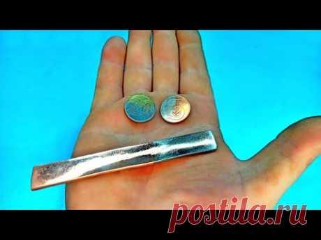 Дешевое никелирование меди и латуни!Узнав этот секрет,ты больше не выбросишь нашатырь!DIY INVENTIONS - YouTube