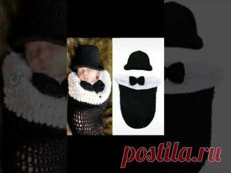 красивые коконы для лялек🥰😍👼 #вязания #розадар #шапки #детям #кокон #малышам