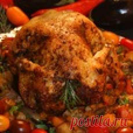 Курица в полёте по-гречески Кулинарный рецепт