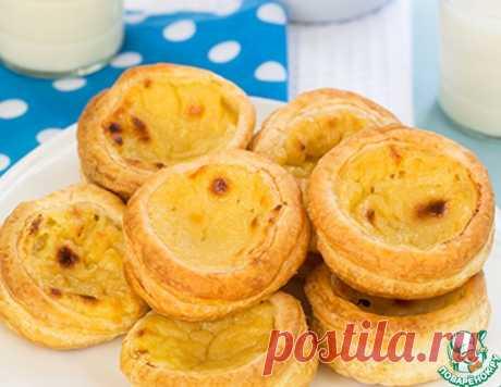 Слойки с заварным кремом Pasteis de Belem кулинарный рецепт